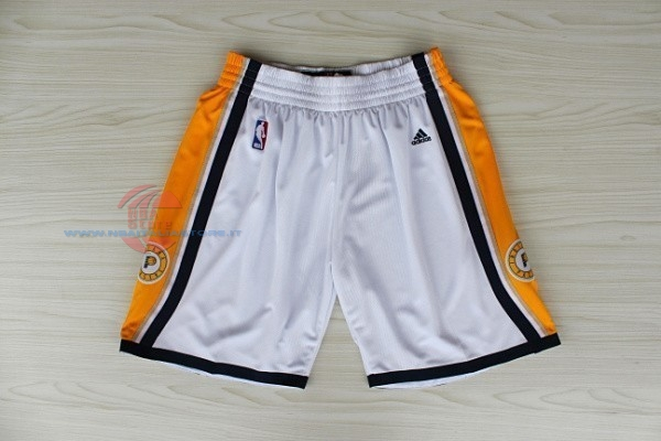 Acquista Pantaloni Basket Indiana Pacers Bianco
