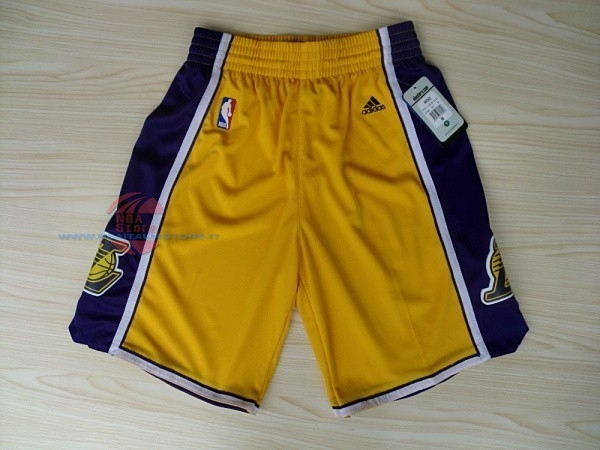 Acquista Pantaloni Basket Los Angeles Lakers Giallo 2018