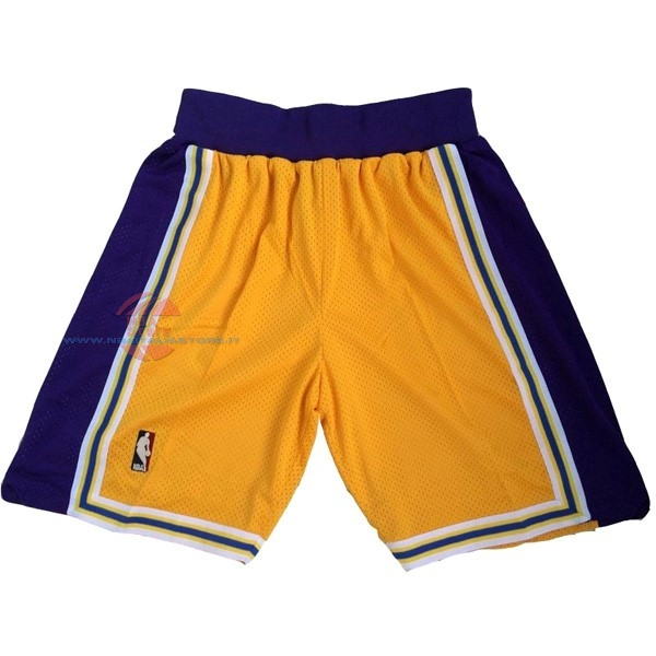 Acquista Pantaloni Basket Los Angeles Lakers Giallo